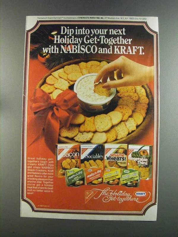 Primary image for 1982 Nabisco Snack Crackers and Kraft Ready Dip Ad