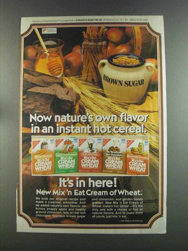 Primary image for 1982 Nabisco Mix 'n Eat Cream of Wheat Ad