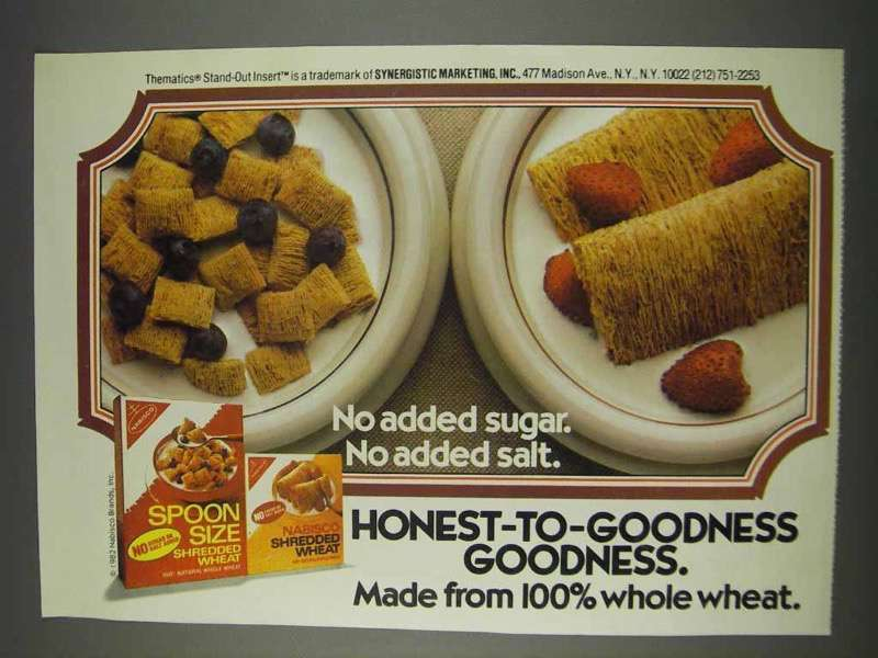 Primary image for 1982 Nabisco Shredded Wheat Ad - Honest-to-Goodness