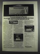 1982 Panasonic The Link Portable Computer Ad - $14.99
