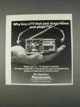 1982 Panasonic TR-1020P TV Ad - Why Buy - $14.99
