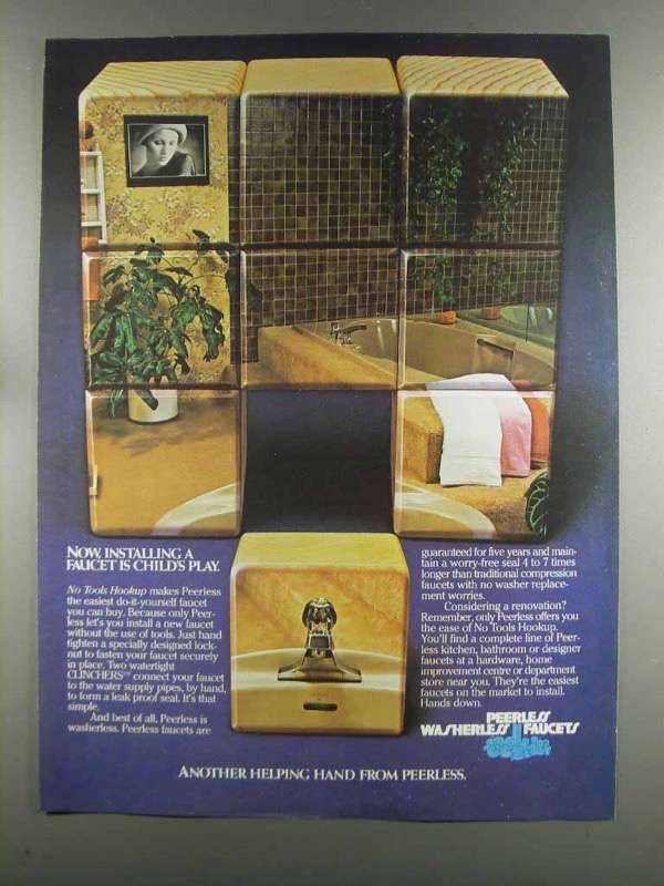 Primary image for 1982 Peerless Faucet Ad - Installing is Child's Play