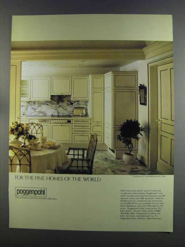 Primary image for 1982 Poggenpohl Form 2000, Series LP 703 Cabinetry Ad
