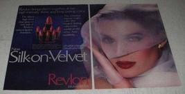 1982 Revlon Silk-on-Velvet Lipstick Ad - $14.99