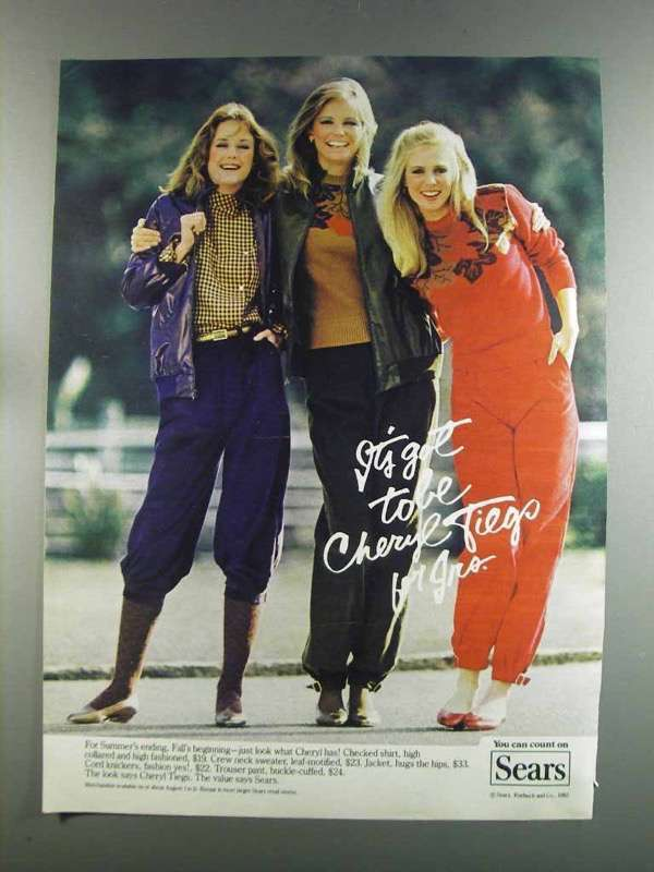 Primary image for 1982 Sears Cheryl Tiegs Fashion Ad - Shirt, Sweater