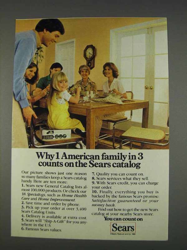 1982 Sears Catalog Ad - 1 American Family in and 49 similar items