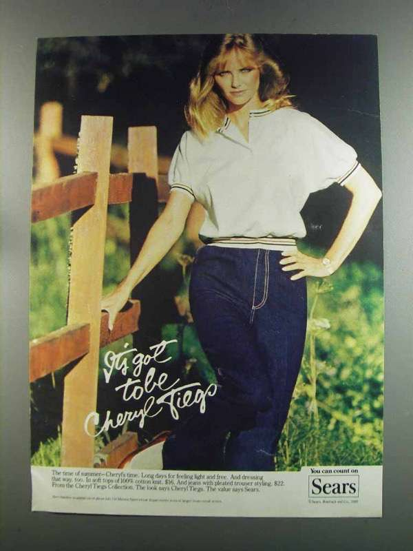 Primary image for 1982 Sears Cheryl Tiegs Fashion Ad - Soft Tops, Jeans