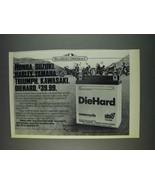 1982 Sears DieHard Motorcycle Battery Ad - $14.99