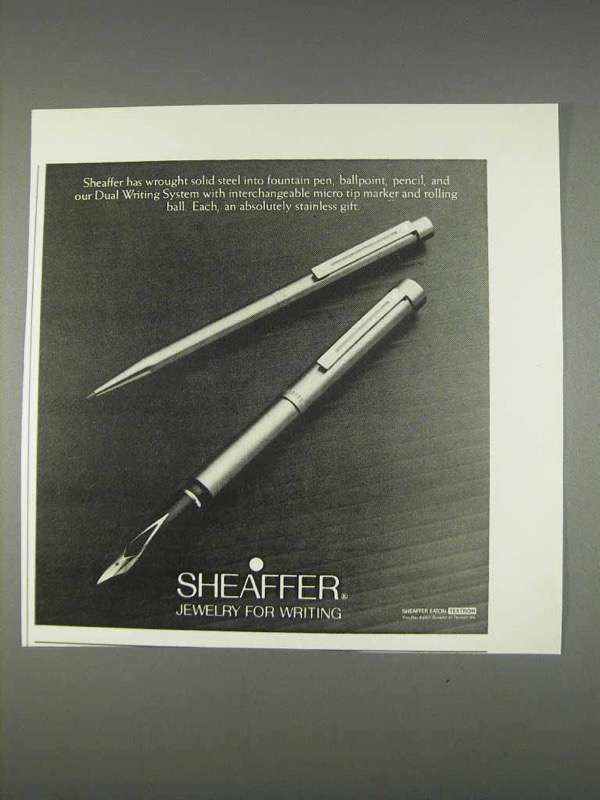 Primary image for 1982 Sheaffer Pens Ad - Jewelry for Writing