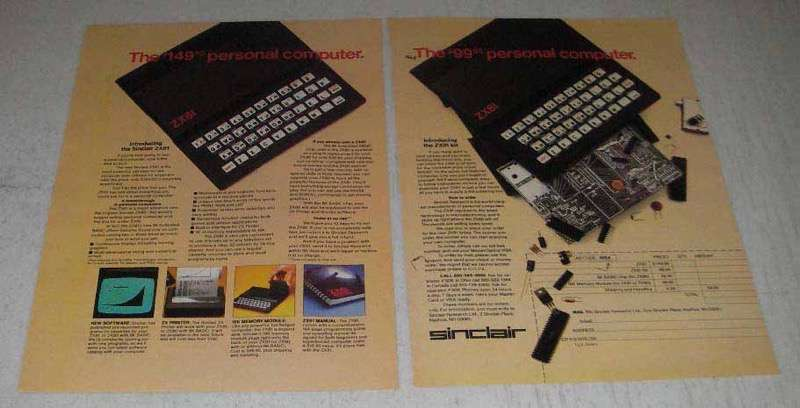 Primary image for 1982 Sinclair ZX81 Computer Ad - The $149.95 Computer
