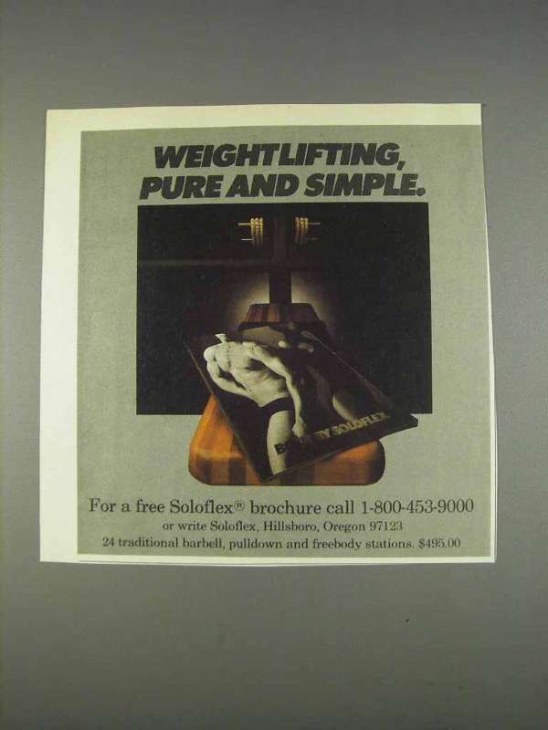 Primary image for 1982 Soloflex Exercise Equipment Ad - Weightlifting