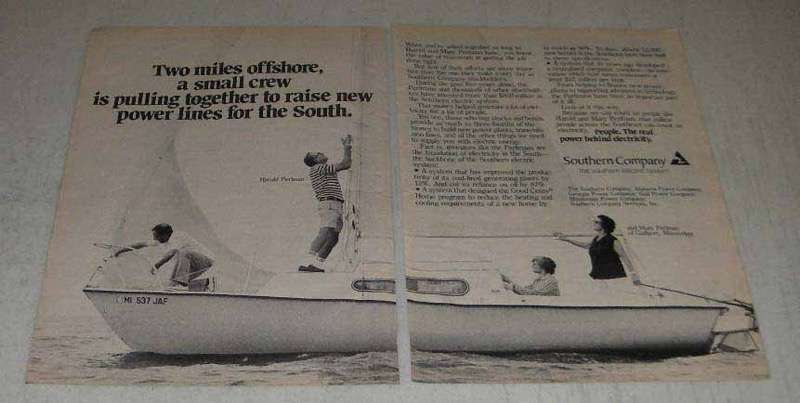 Primary image for 1982 Southern Company Ad - Two Miles Offshore
