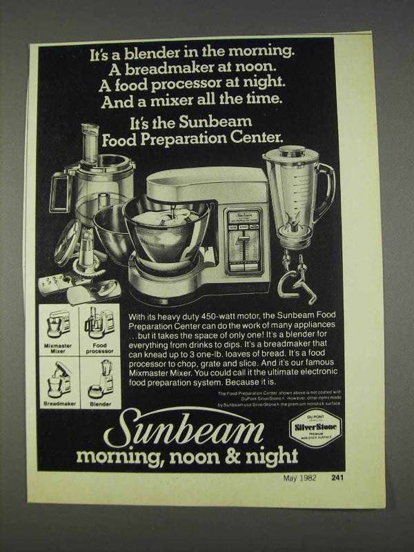 Primary image for 1982 Sunbeam Food Preparation Center Ad - It's A