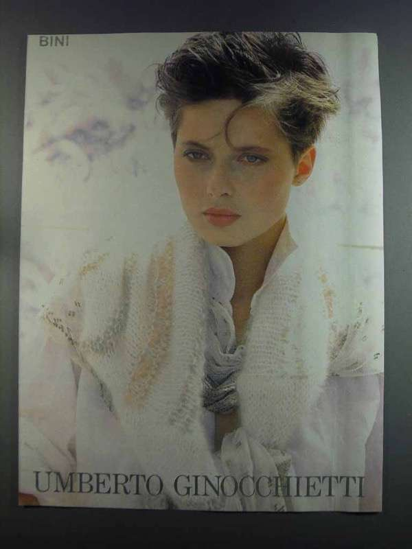 Primary image for 1982 Umberto Ginocchietti Women's Fashion Ad - NICE