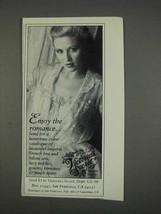 1982 Victoria's Secret Lingerie Ad - Enjoy the Romance - $14.99