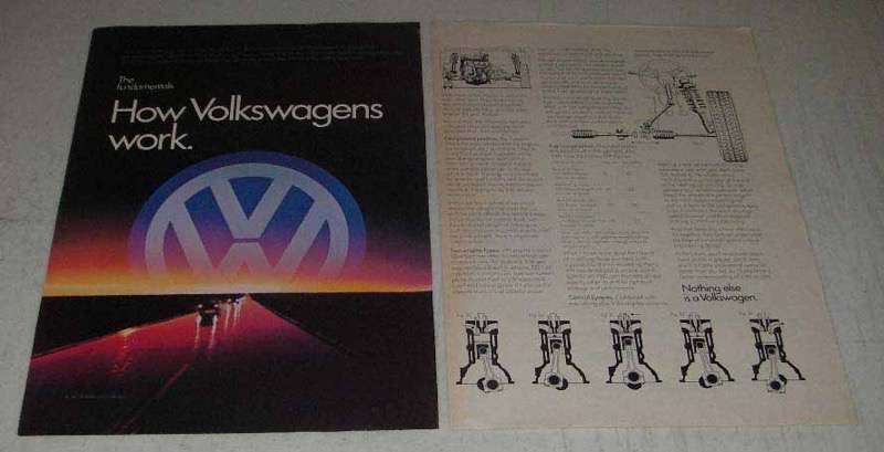 Primary image for 1982 Volkswagen Cars Ad - How Volkswagens Work