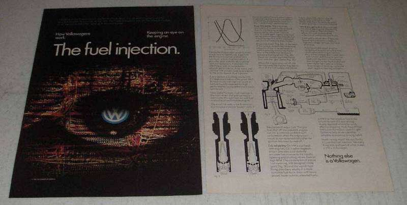 Primary image for 1982 Volkswagen Cars Ad - The Fuel Injection