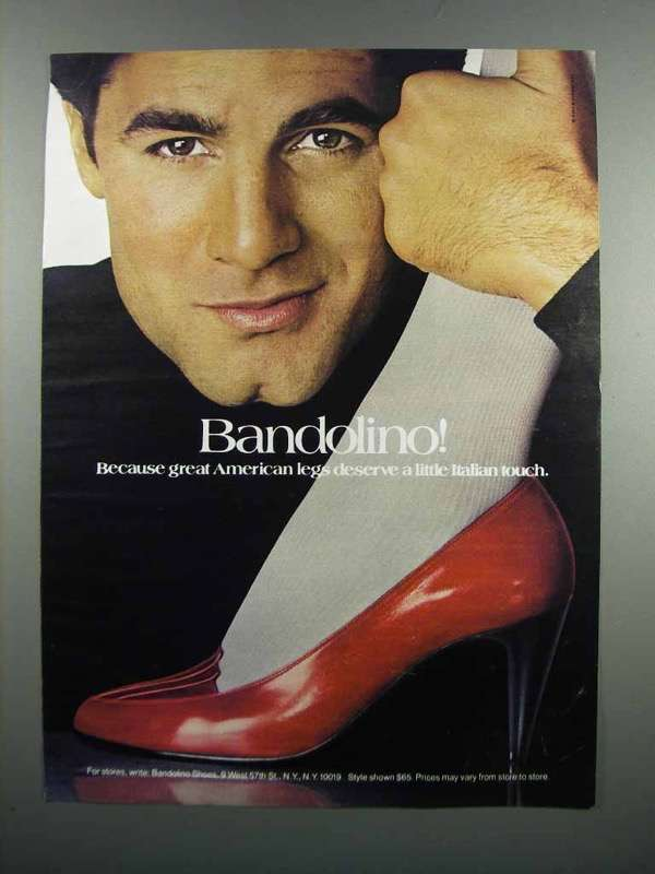 Primary image for 1983 Bandolino Shoes Ad - Great American Legs
