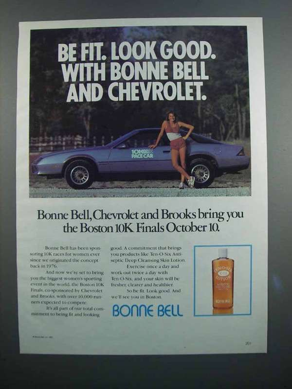 Primary image for 1983 Bonne Bell Ten-O-Six Lotion Ad - Be Fit