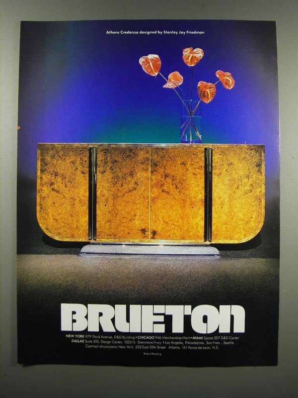 Primary image for 1983 Brueton Furniture Ad - Athens Credenza