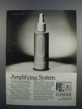 1983 Clinique Hair Structurizer Ad - Amplifying System - $14.99