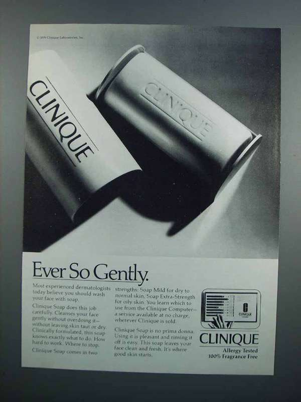Primary image for 1983 Clinique Soap Ad - Ever So Gently