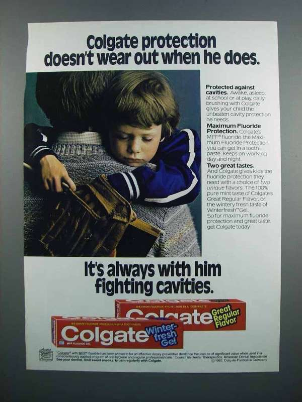 Primary image for 1983 Colgate Toothpaste Ad - Doesn't Wear Out