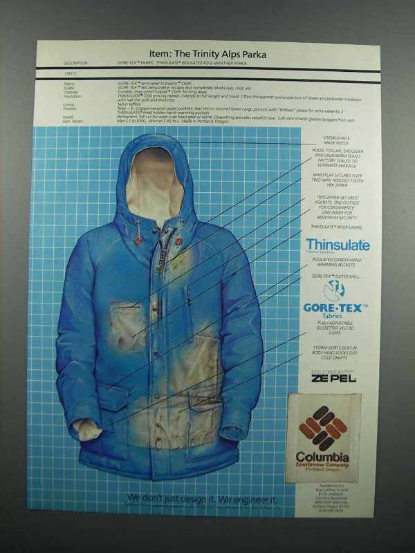 Primary image for 1983 Columbia Trinity Alps Parka Ad
