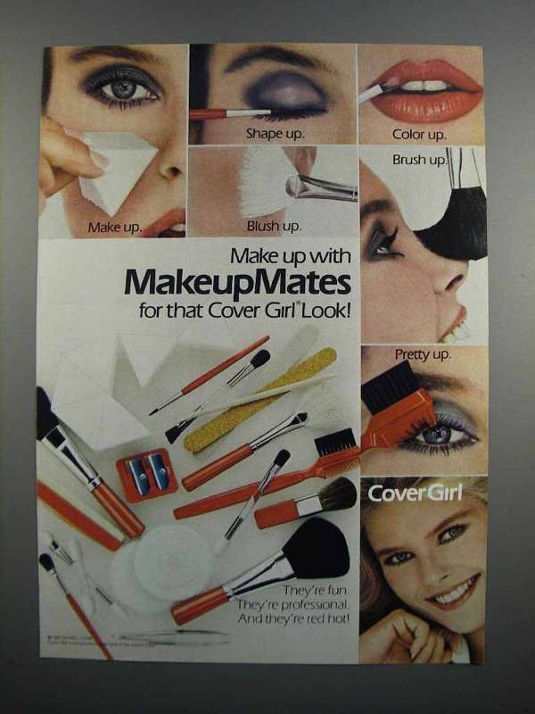 Primary image for 1983 Cover Girl MakeupMates Ad - Make Up With