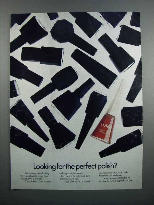Primary image for 1983 Cutex Perfect Color for Nails Ad - Perfect Polish