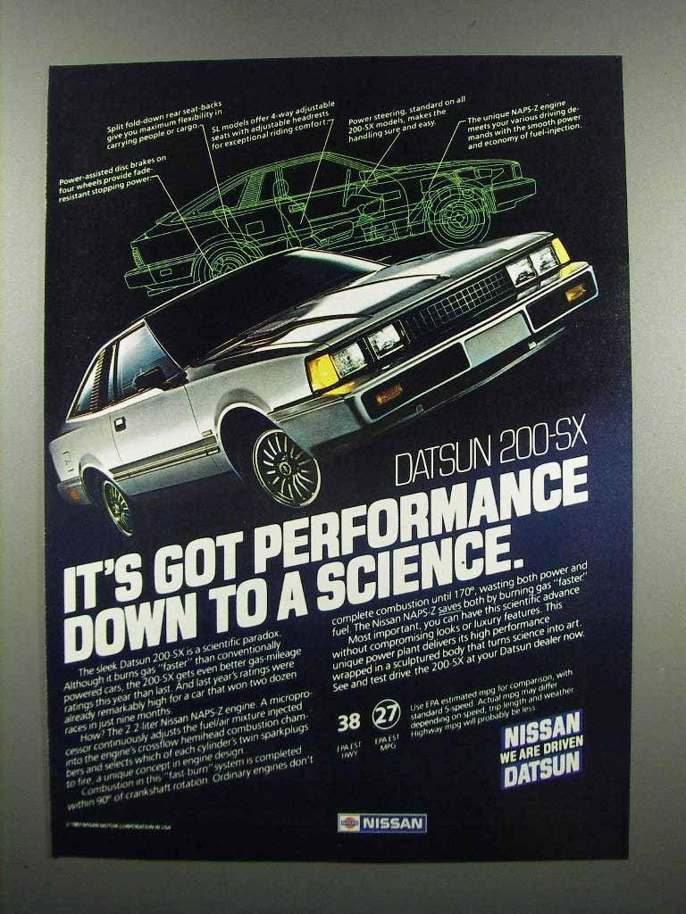 Primary image for 1983 Datsun 200-SX Ad - It's Got Performance