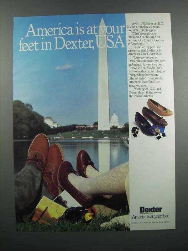 Primary image for 1983 Dexter Shoes Ad - America is at Your Feet