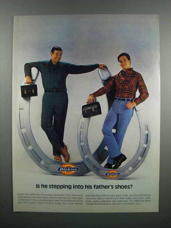 Primary image for 1983 Dickies Work Clothes Ad - Stepping Into Shoes