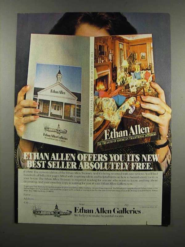 Primary image for 1983 Ethan Allen Galleries Ad - New Best Seller