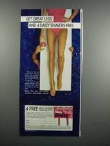 1983 Gillette Daisy Razor Ad - Get Great Legs - $14.99