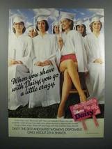 1983 Gillette Daisy Razor Ad - Go a Little Crazy - $14.99