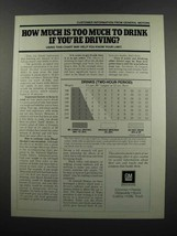 1983 GM General Motors Ad - Too Much To Drink - $14.99