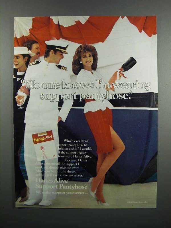 Primary image for 1983 Hanes Alive Support Pantyhose Ad