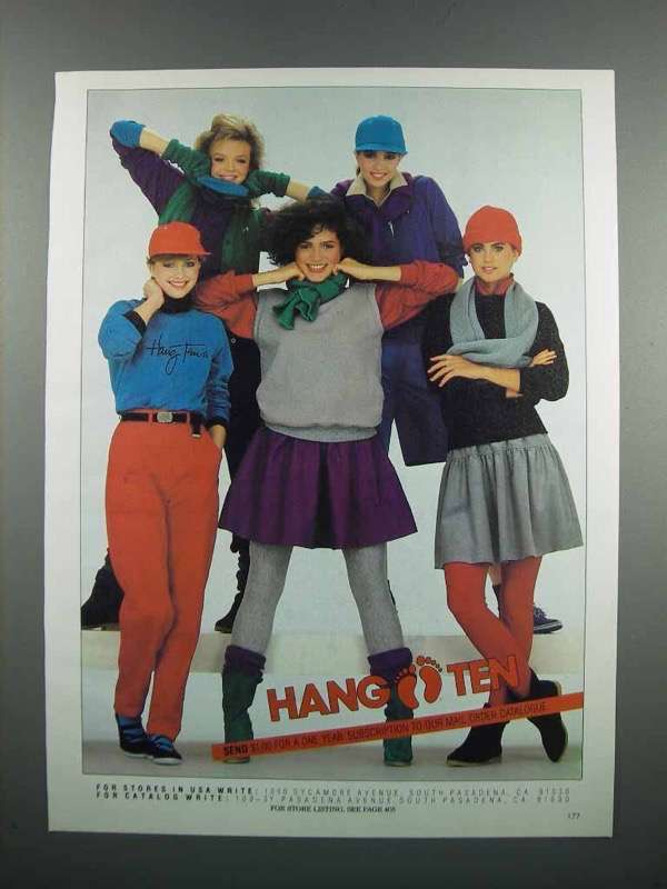 Primary image for 1983 Hang Ten Women's Fashion Ad