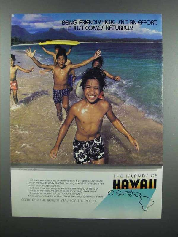 Primary image for 1983 Hawaii Tourism Ad - Being Friendly