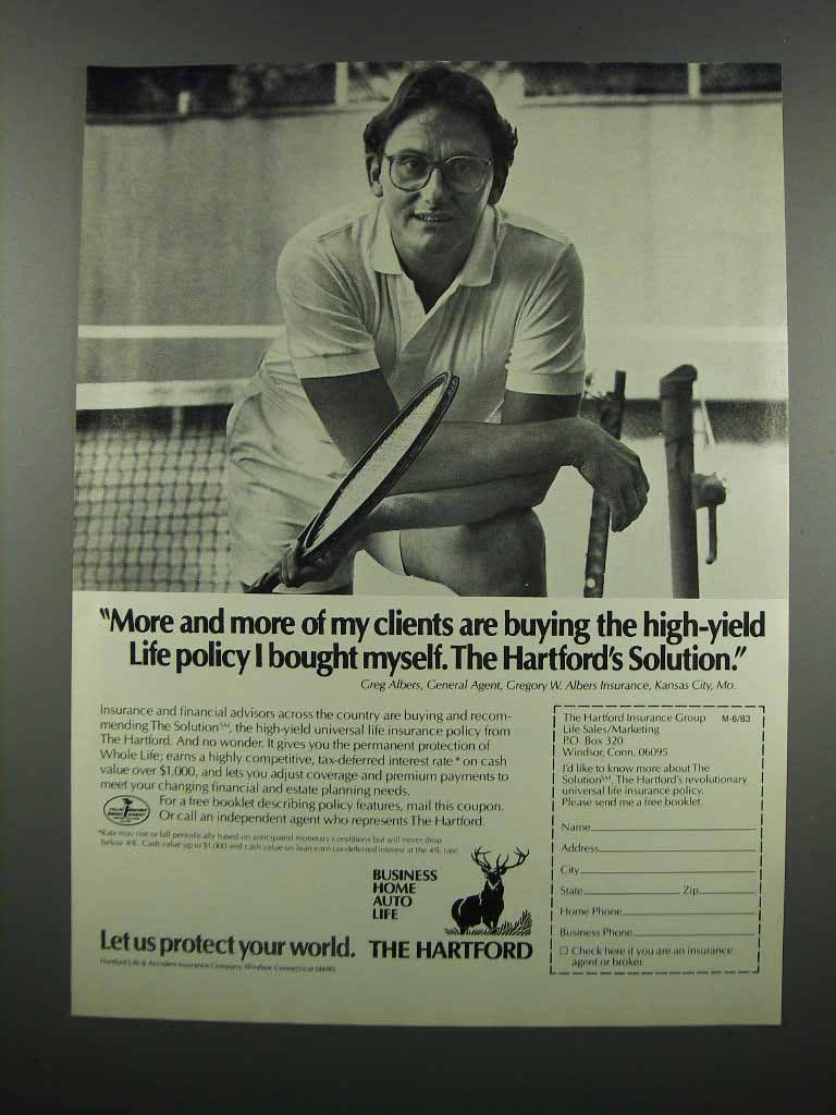 Primary image for 1983 Hartford Insurance Ad - More Clients