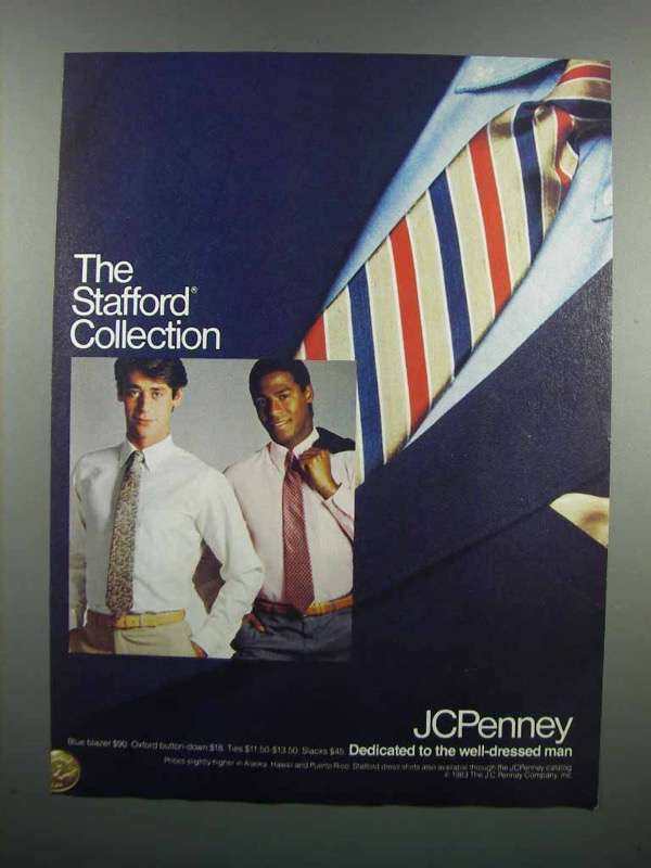 Primary image for 1983 JCPenney Blue Blazer, Oxford, Ties and Slacks Ad