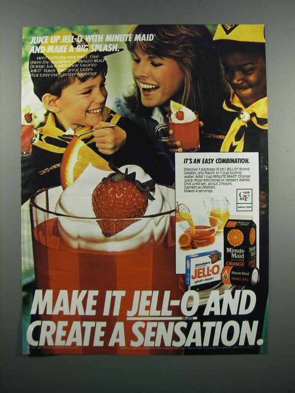 Primary image for 1983 Jell-O Gelatin & Minute Maid Orange Juice Ad