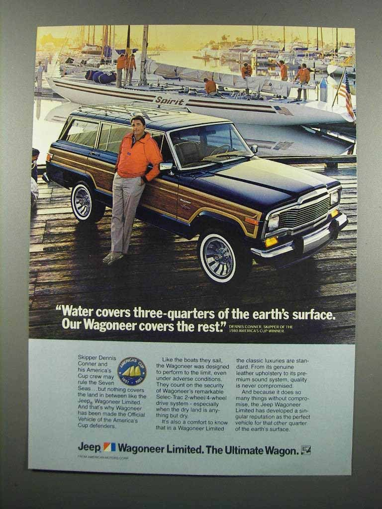 Primary image for 1983 Jeep Wagoneer Ad - Dennis Conner