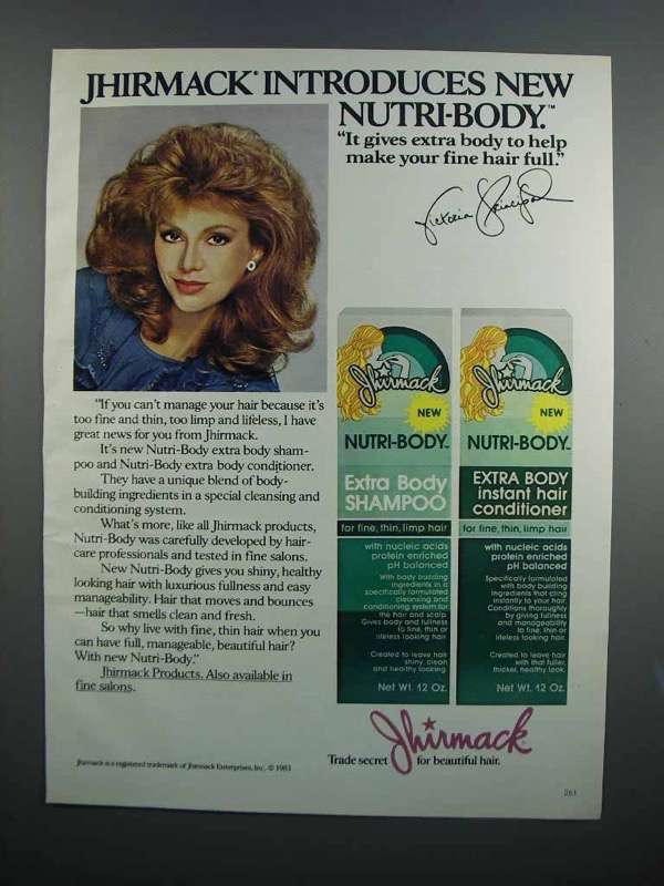 Primary image for 1983 Jhirmack Nutri-Body Ad - Victoria Principal