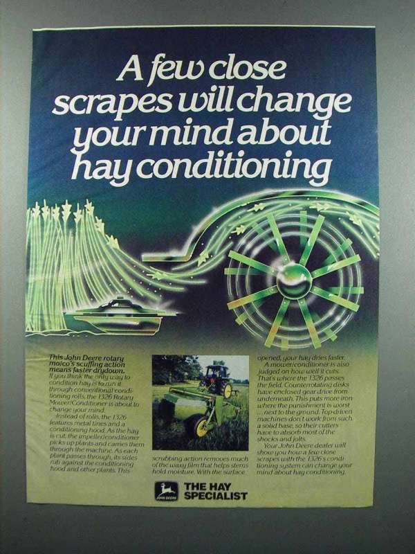 Primary image for 1983 John Deere 1326 Rotary Mower/Conditioner Ad