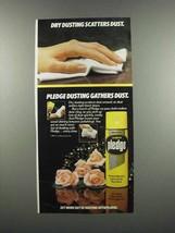 1983 Johnson Wax Lemon Pledge Ad - Dry Dusting - $14.99