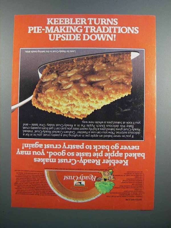 Primary image for 1983 Keebler Ready-Crust Ad - Dutch Apple Pie Recipe