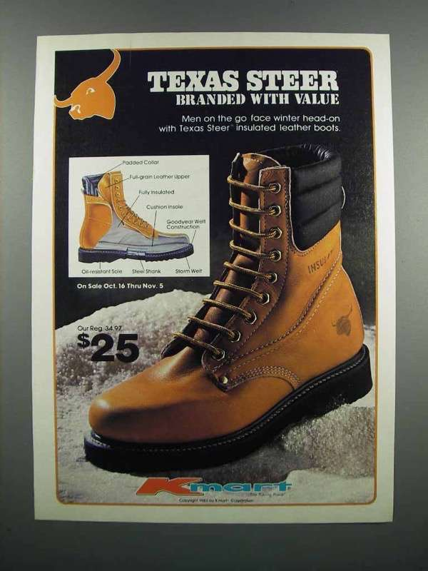 Primary image for 1983 Kmart Texas Steer Boots Ad