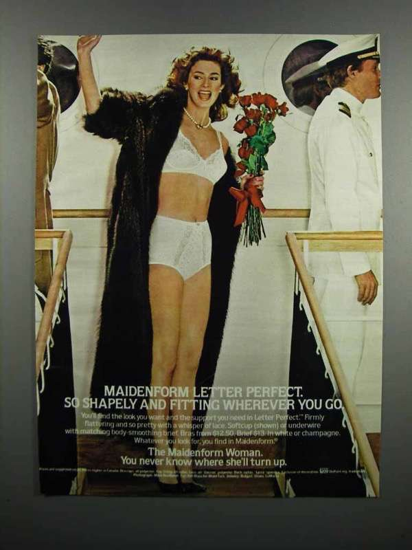 Primary image for 1983 Maidenform Letter Perfect Bras and Bikinis Ad
